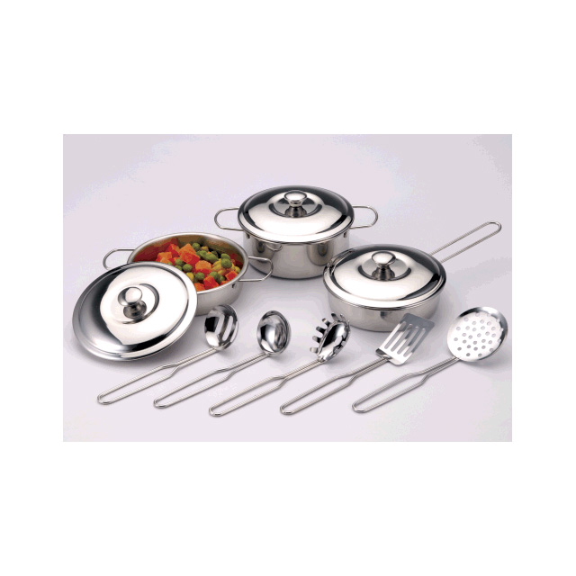 Just For Chef 11 Piece Steel Cookware Set