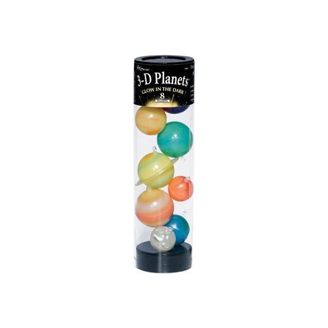 Glow in the Dark 3-D Planets 9 Piece Set
