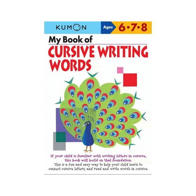 My Book Of Cursive Writing Words Cursive Writing Workbooks